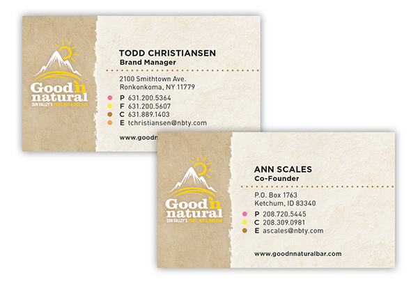 Good n natural brand identity integrated campaign on pratt business card design reheart Images