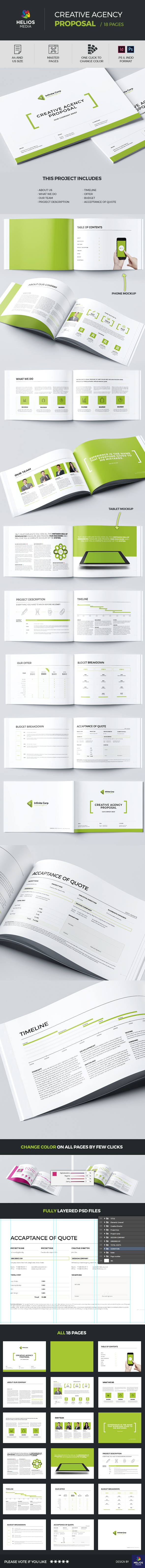 agency brand brochure clean creative horizontal identity InDesign invoice logo manual minimal modern offer print