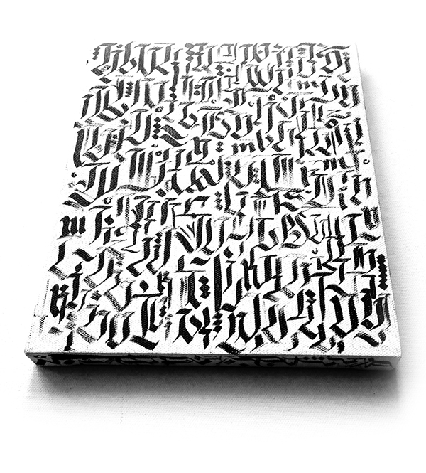 Calligraphy calligraffitti on canvas  behance