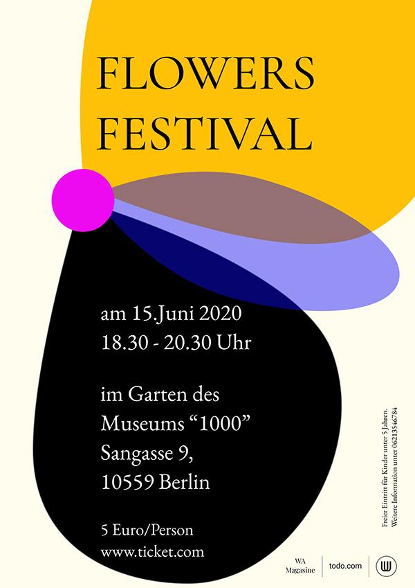 """Poster """"Flowers Festival"""""""