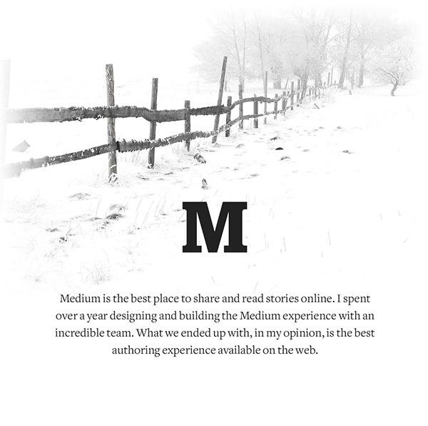 medium UI ux