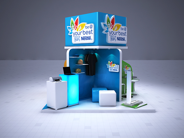 Nestle Exhibition Booth : Nestle booth on behance