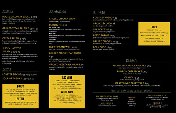 Mock Restaurant Menu On Behance
