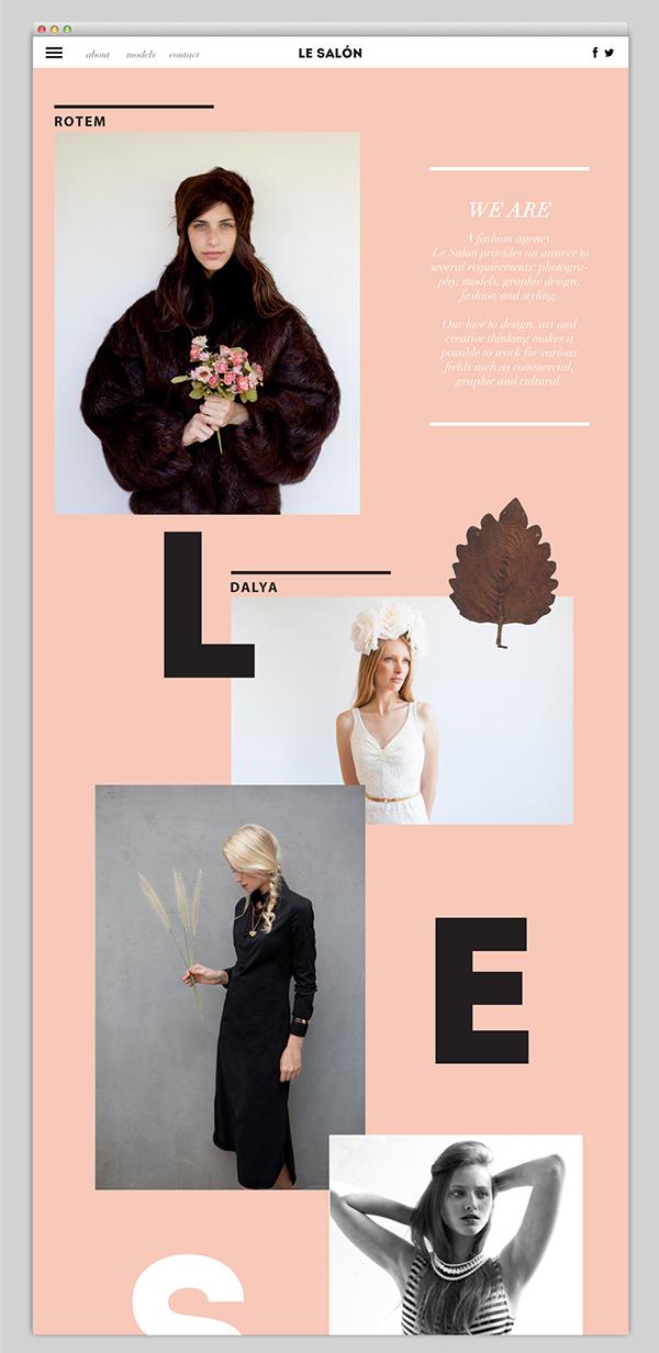 Web fashion agency le salon light pastel soft photos Website women agency elegant gentel
