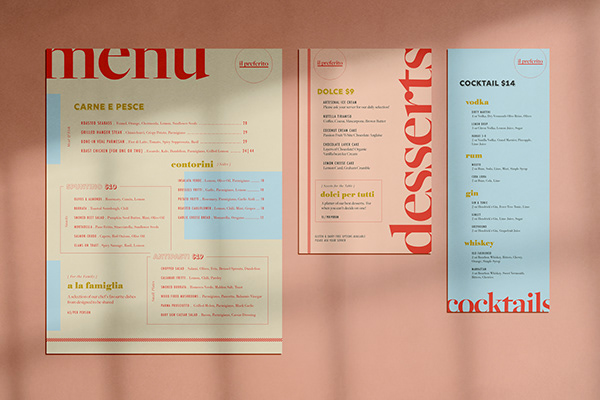 Mẫu thiết kế menu thực đơn