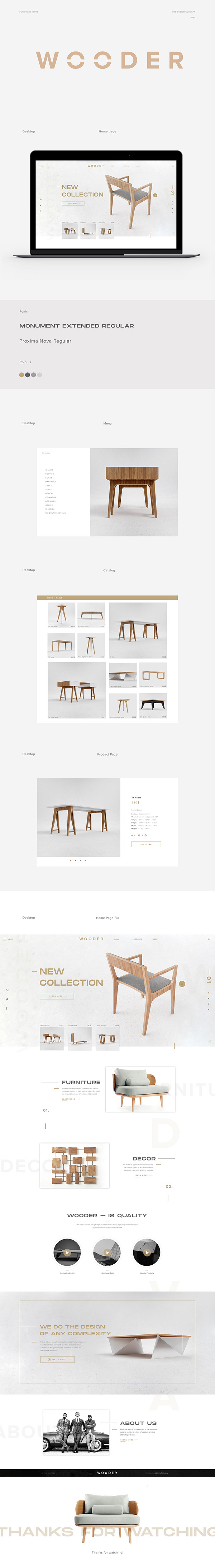 Wooder. Furniture Store Concept