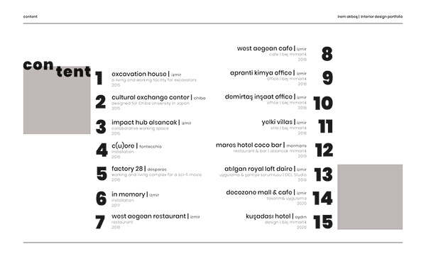 İrem Akbaş - Interior Design Portfolio