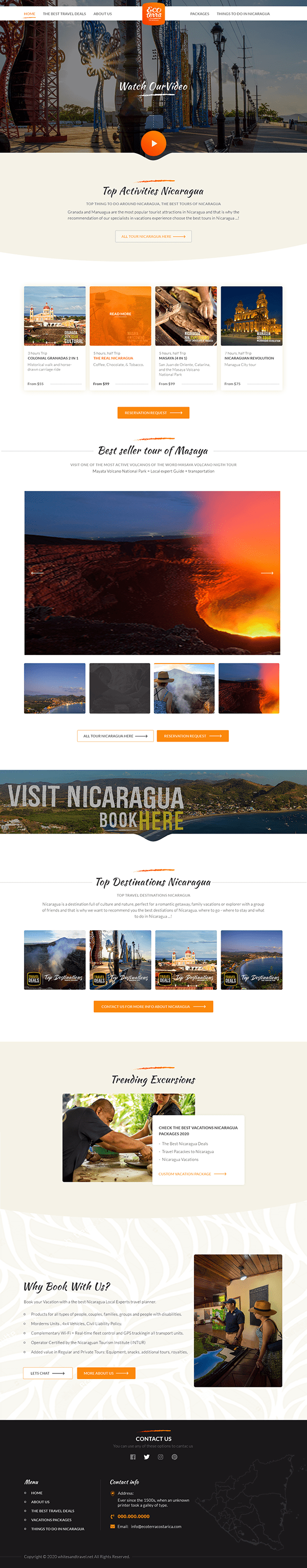 Travel Agency Tourism Website Design By Nexstair Tech On Student Show