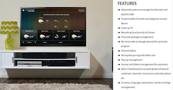 IPTV UI Screen on Student Show
