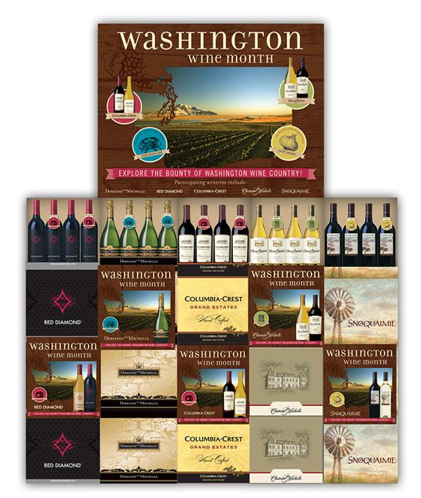 Washington Wine Month on Behance