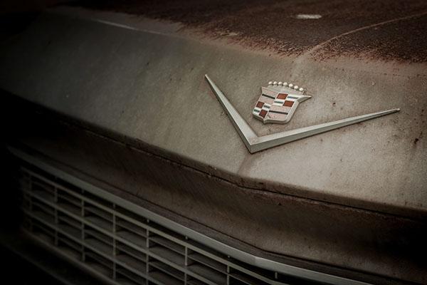 car oldcar cadillac jalopy ruins