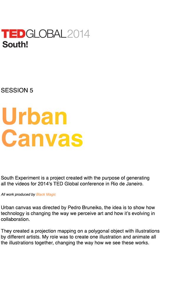 TED Global 2014 / Urban Canvas by Danilo Gusmão Silveira