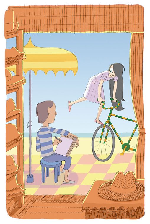 children´s books Bicycles  photoshop Circus summer