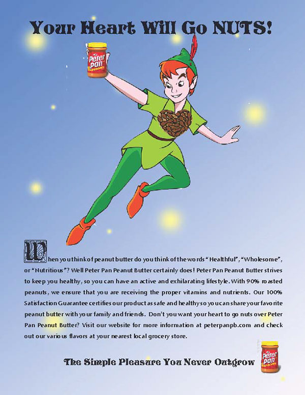 Peter Pan Peanut Butter Advertisment on Behance