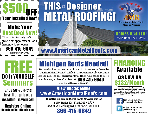 Free Roofing Advertising Amp Back Page Ad In Local Shopper