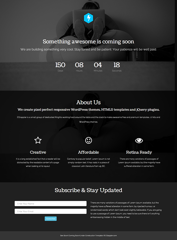 free coming soon responsive template bootstrap3 on behance