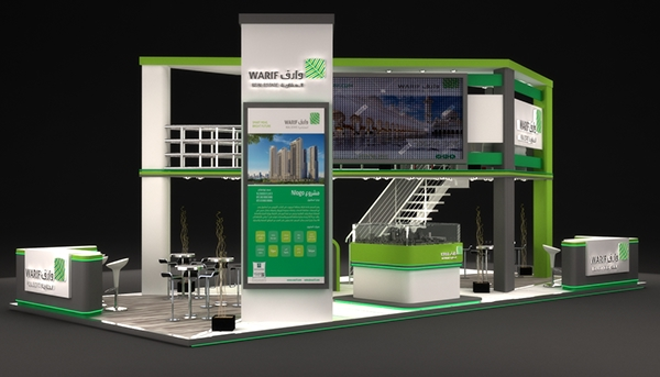 Property Exhibition Booth : Warif real estate exhibition booth in ksa on