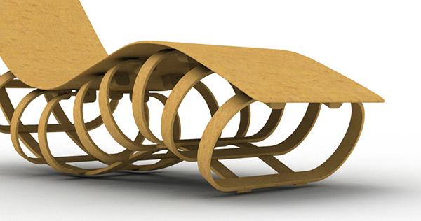 Bent Lamination Lounge Chair On Behance