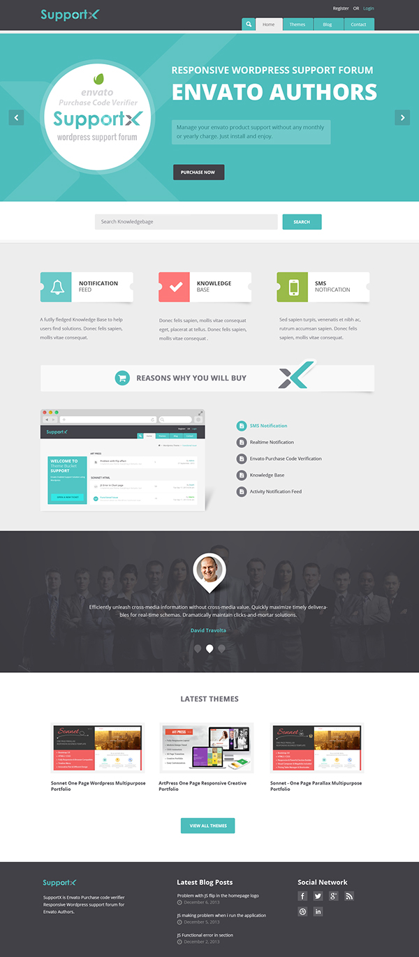 SupportX - Envato API Enabled Support Forum on Behance
