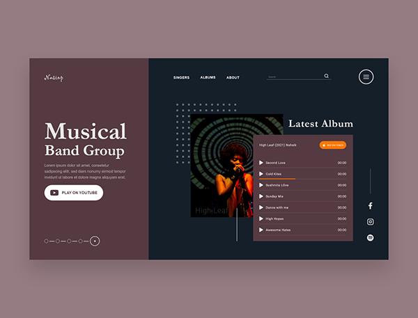 Musical Band Website UI Design Concept