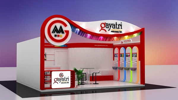 Exhibition Stall On Behance : Gayatri microns stall design on behance