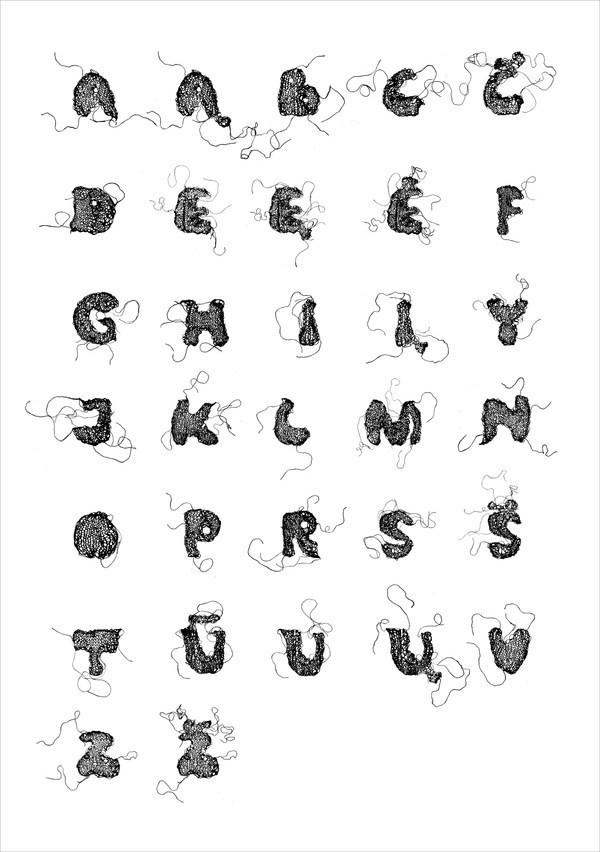knitting alphabet poster knitted letters