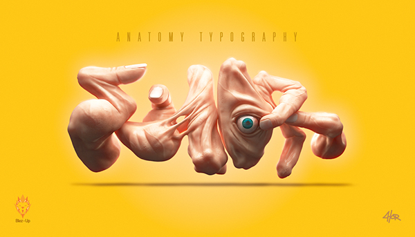 Anatomy Typography by Fernando Mariano