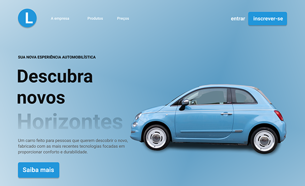 Blue Car Home Page