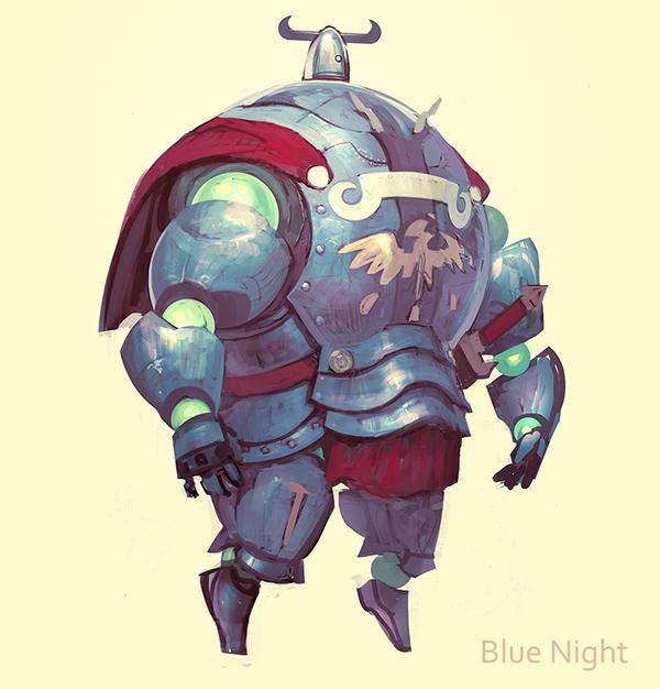 art robot knight fantasy