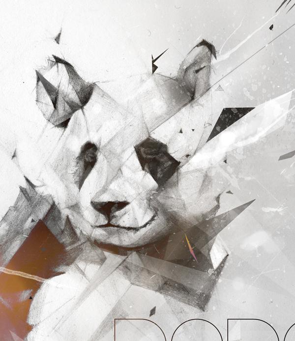 Panda  alexis Marcou Bad Panda Panda Font graphite pencil
