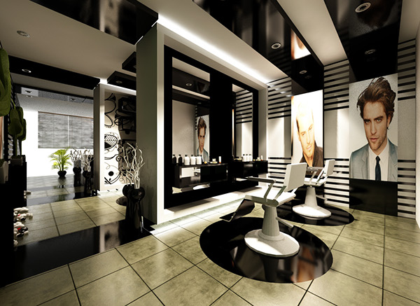 Black and White Barbershop on Behance