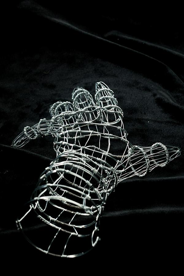 3d Wire Sculpture Hand On Behance