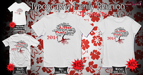 typography tree family reunion t shirt design on adweek