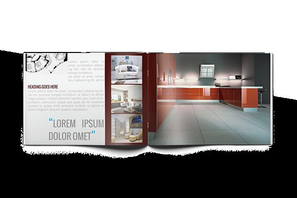 Anaya Interiors Catalog Template A5 on Behance