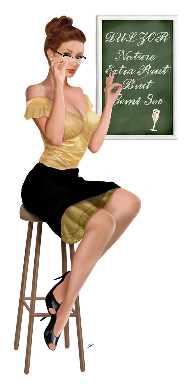 from Kashton teacher pin up girl