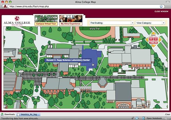 alma college campus map Alma College Website Redesign On Behance alma college campus map