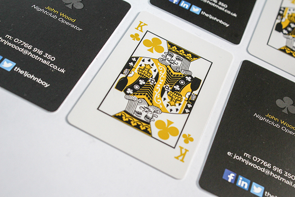King of clubs nightclub manager business cards on behance a set of business cards based on a playing card for a friend of mine who owns several nightclubs colourmoves