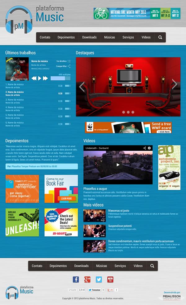 plataforma Music,Ariquemes,Rondônia,Brazil,Brasil,logo,Logotipo,site interface,Interface