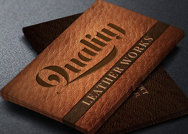 Leather Works Business Card Template On Behance