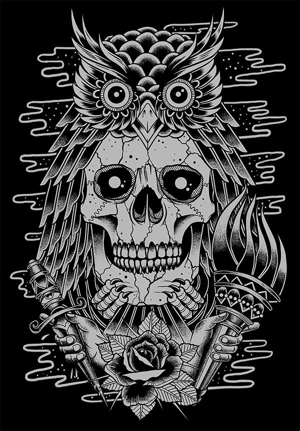 Owl X Skull On Behance