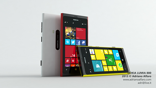 nokia lumia concept shell cover removable color polycarbonate PureView   industrial design product gorilla glass
