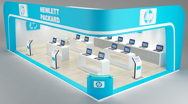 Exhibition Stand 3d Max Download : Hp exhibition stand concept made im d max vray on