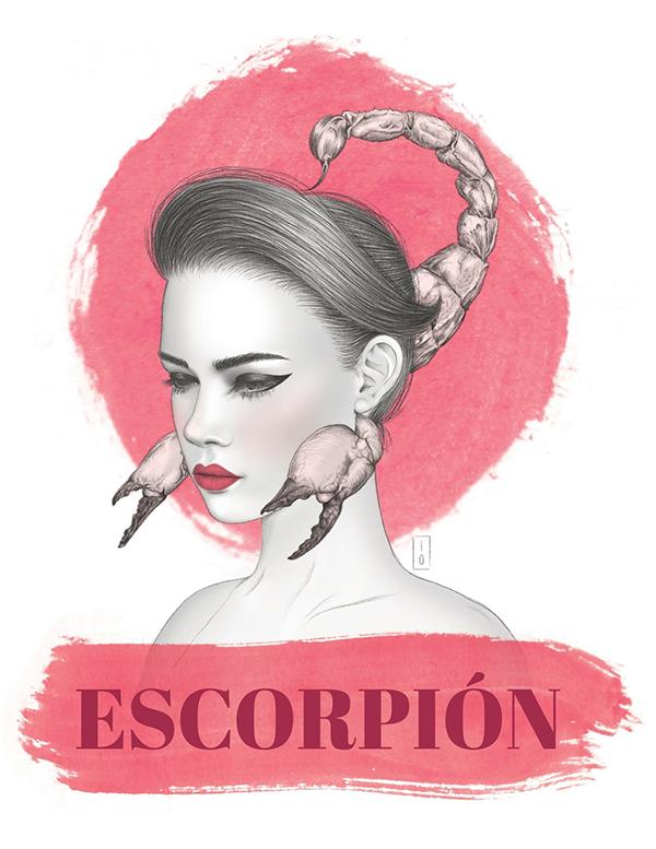 Pencil illustration horoscopes Horoscope editorial Fashion