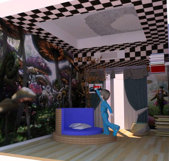 Alice In Wonderland Bedroom On Behance