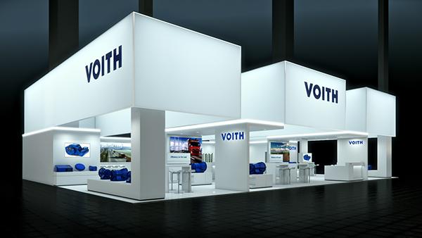 3d Exhibition Stand Design Jobs In Dubai : Voith iaa booth design on behance