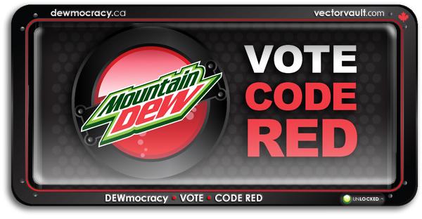 mountain dew dewmocracy code red on behance