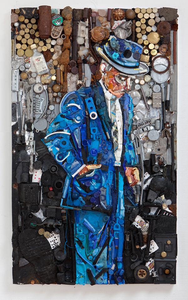 plastic debris  fine art  painting  environmental art