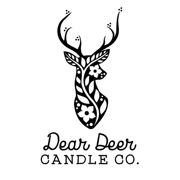 logo design for dear deer candle company on behance