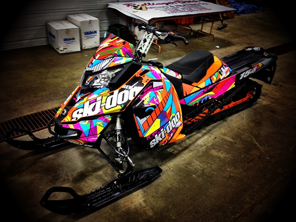 skidoo sled wrap on behance