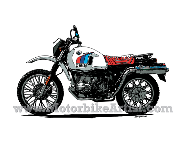 Bmw R80gs Paris Dakar Vintage Motorcycle Vector Artwork On Behance